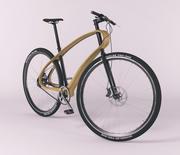 bicicleta de diseño con marco de madera modelo 3d