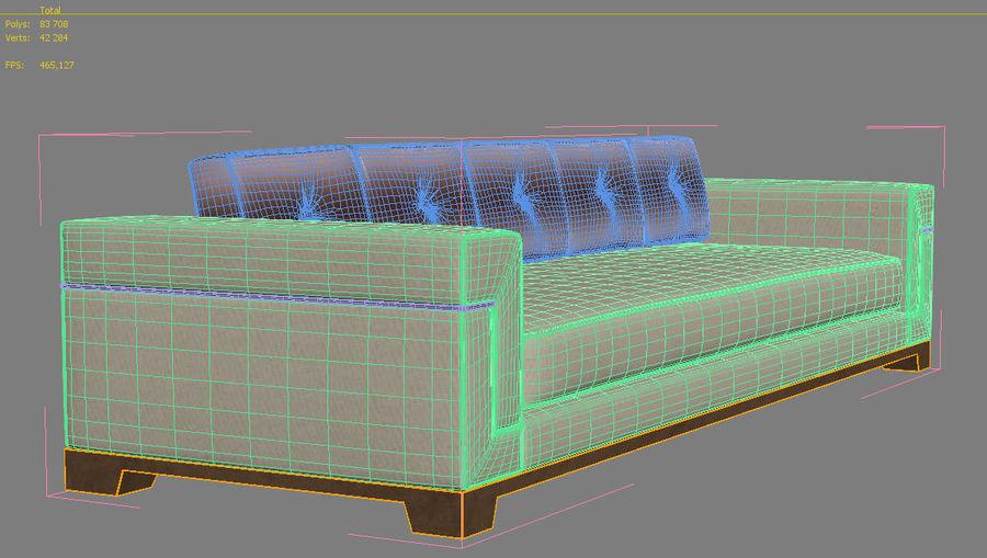 Hudson Möbel - Gitanes Sofa royalty-free 3d model - Preview no. 16