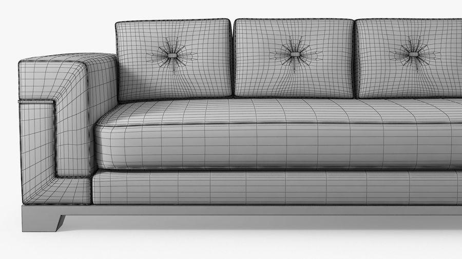 Hudson Möbel - Gitanes Sofa royalty-free 3d model - Preview no. 11