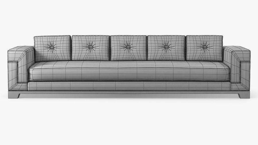 Hudson Möbel - Gitanes Sofa royalty-free 3d model - Preview no. 8
