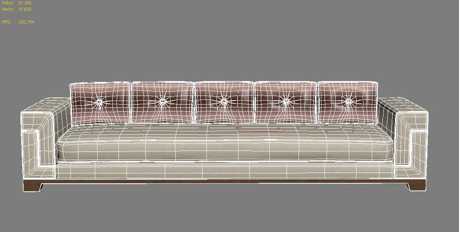Hudson Möbel - Gitanes Sofa royalty-free 3d model - Preview no. 13