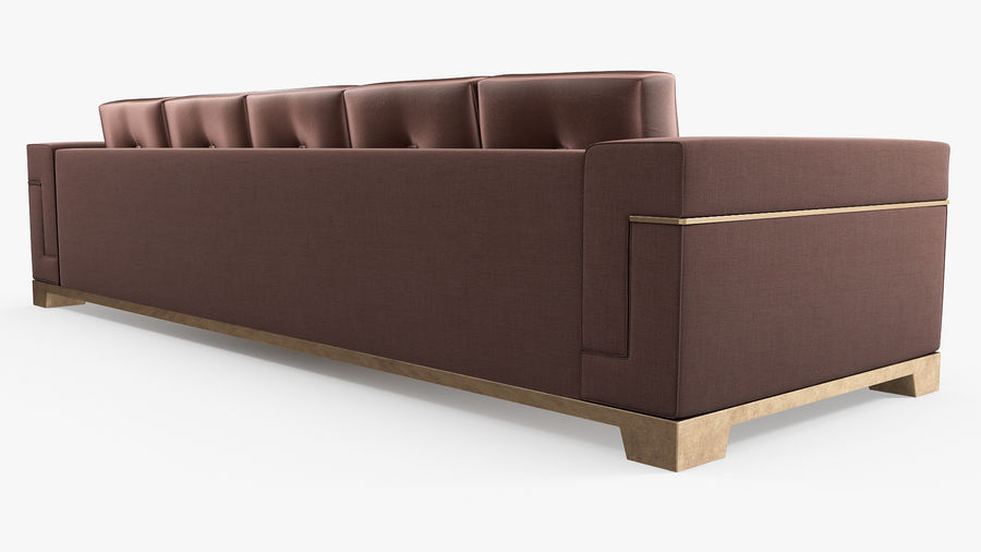 Hudson Möbel - Gitanes Sofa royalty-free 3d model - Preview no. 5