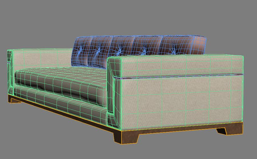 Hudson Möbel - Gitanes Sofa royalty-free 3d model - Preview no. 14