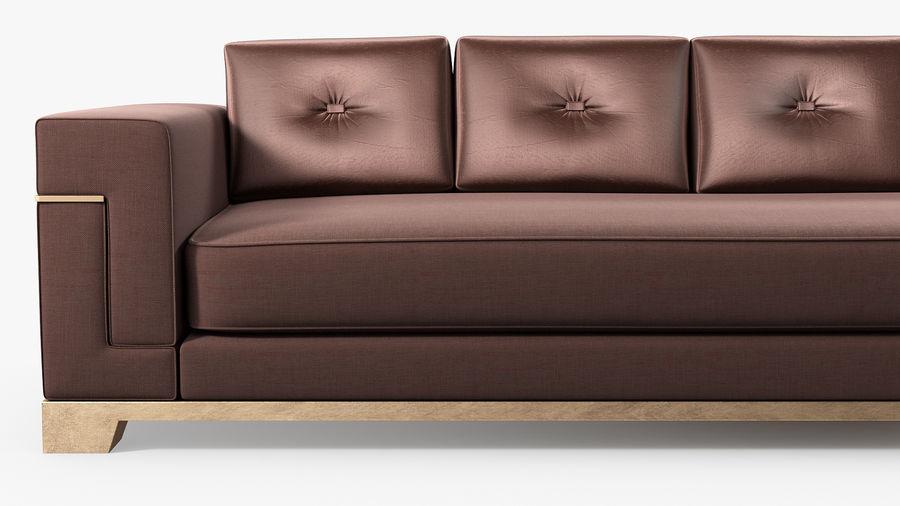 Hudson Möbel - Gitanes Sofa royalty-free 3d model - Preview no. 6
