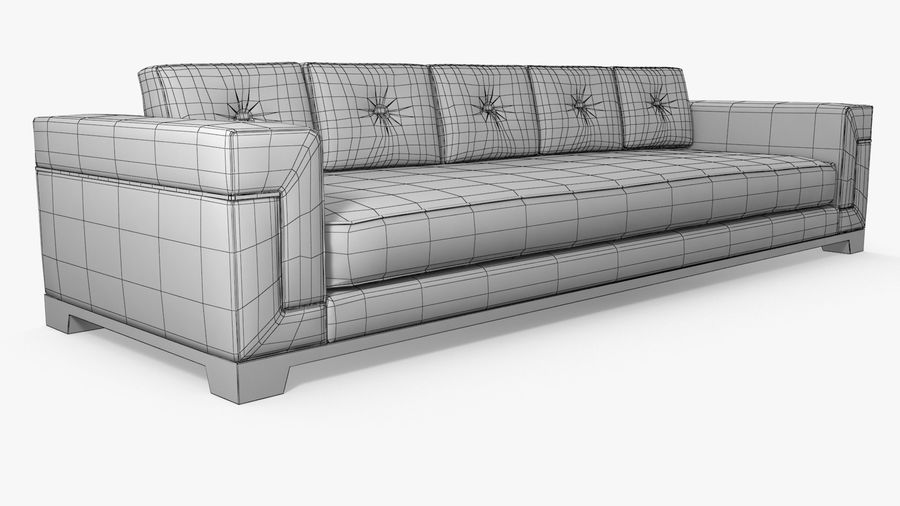 Hudson Möbel - Gitanes Sofa royalty-free 3d model - Preview no. 9