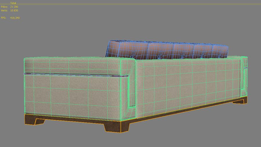 Hudson Möbel - Gitanes Sofa royalty-free 3d model - Preview no. 15