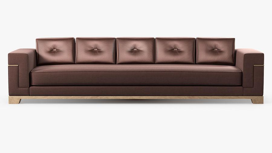Hudson Möbel - Gitanes Sofa royalty-free 3d model - Preview no. 3