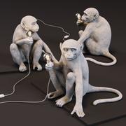 원숭이 램프 앉아있는 버전 3d model