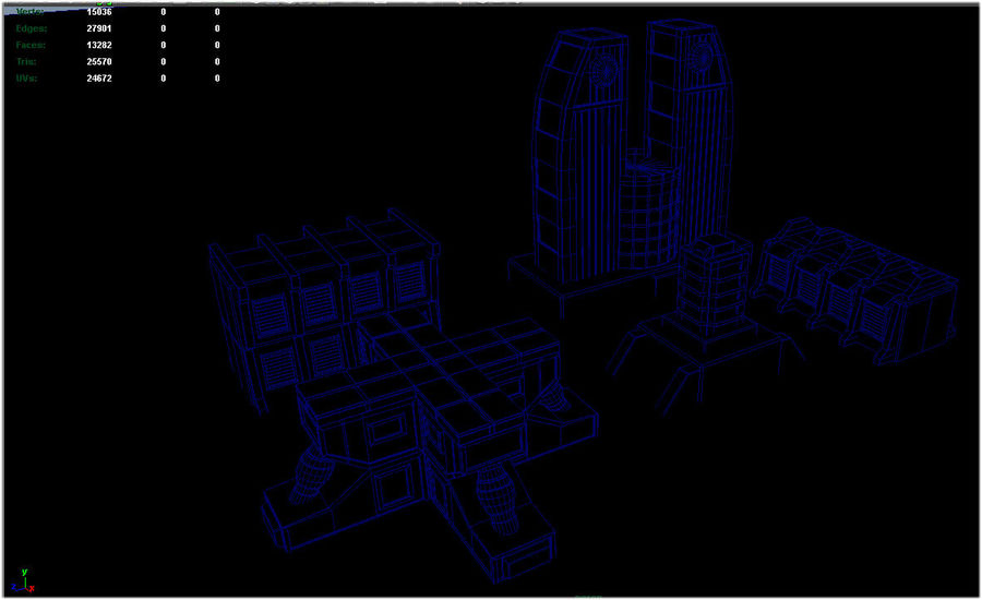 Sci Fi  Futuristic Buildings royalty-free 3d model - Preview no. 6