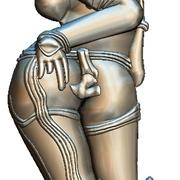 Kama Sutra Basorelief for CNC Router 3d model