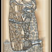 Gustav Klimt The Kiss för CNC Router 3d model