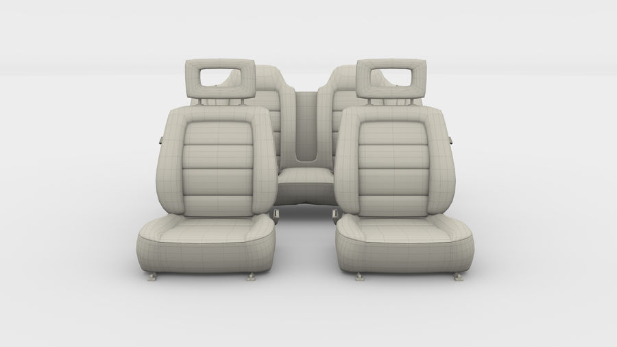 Generic Brown Leather Car Seats royalty-free 3d model - Preview no. 5