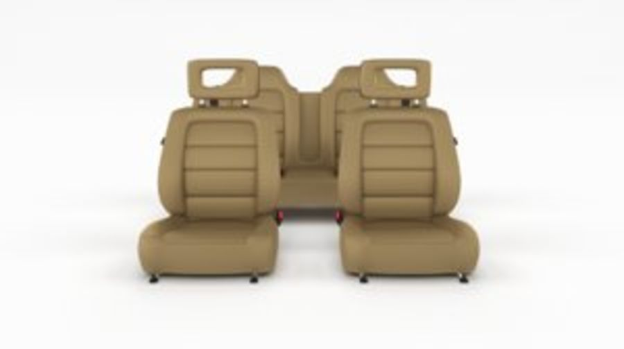 Generic Brown Leather Car Seats royalty-free 3d model - Preview no. 1