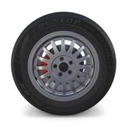 Generic Alloy Wheel and Brake 3d model