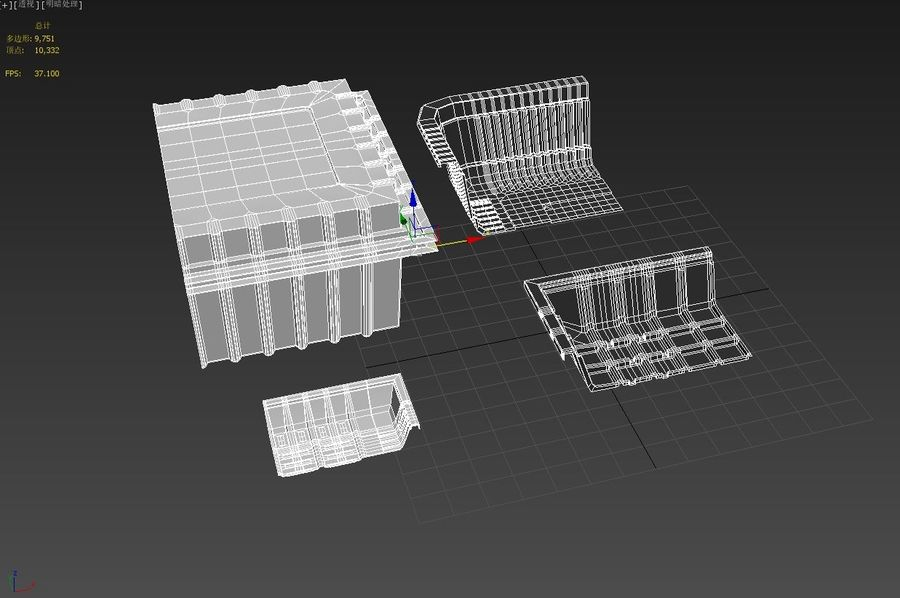 Transparent Plastic Food Container royalty-free 3d model - Preview no. 4