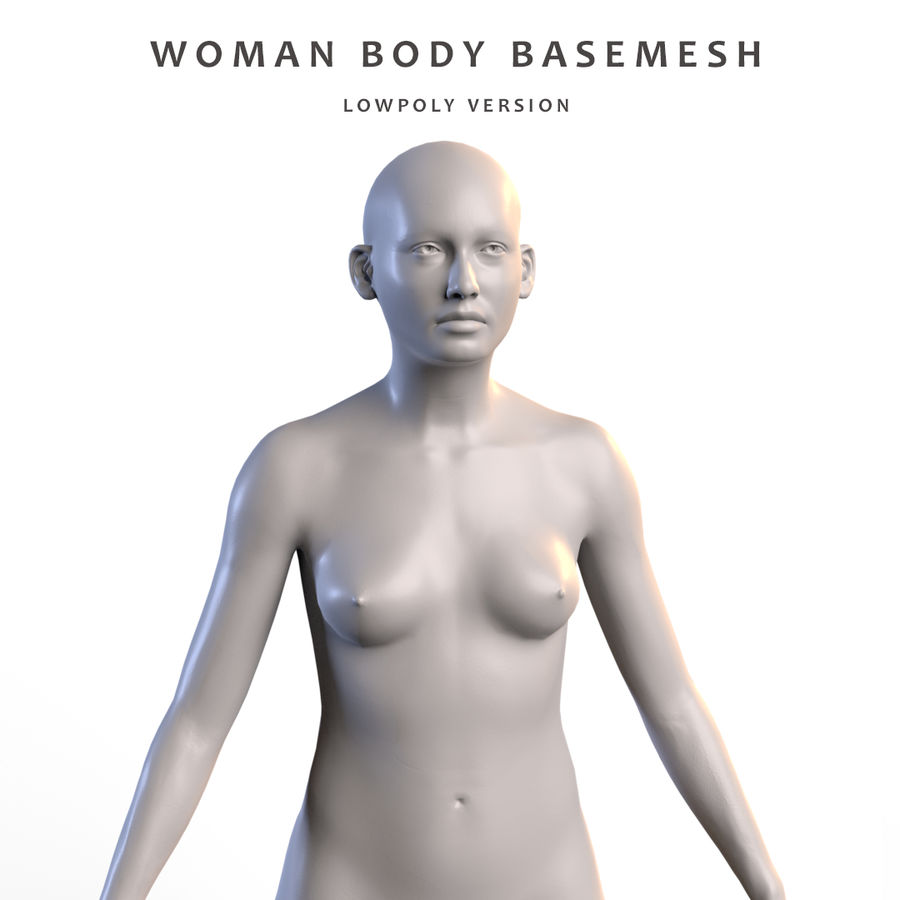 Basemesh corps femme royalty-free 3d model - Preview no. 1