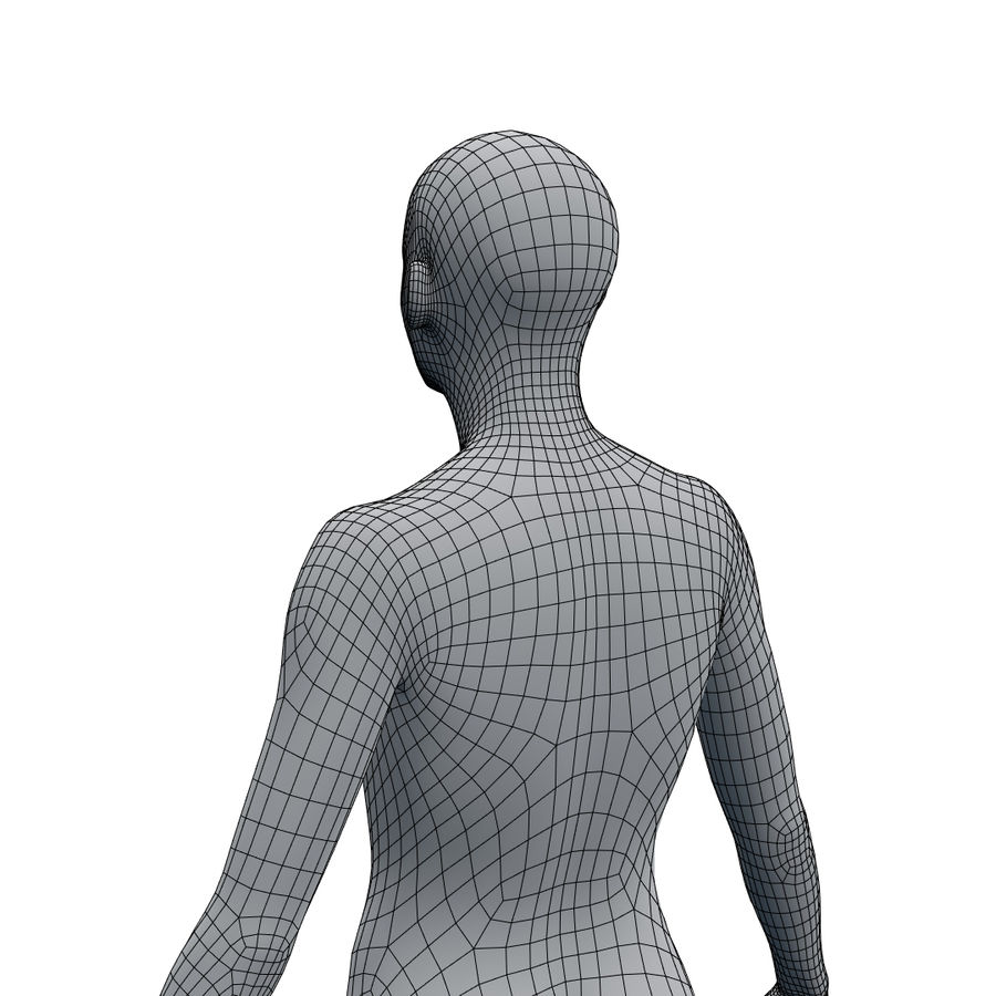 Basemesh corps femme royalty-free 3d model - Preview no. 22