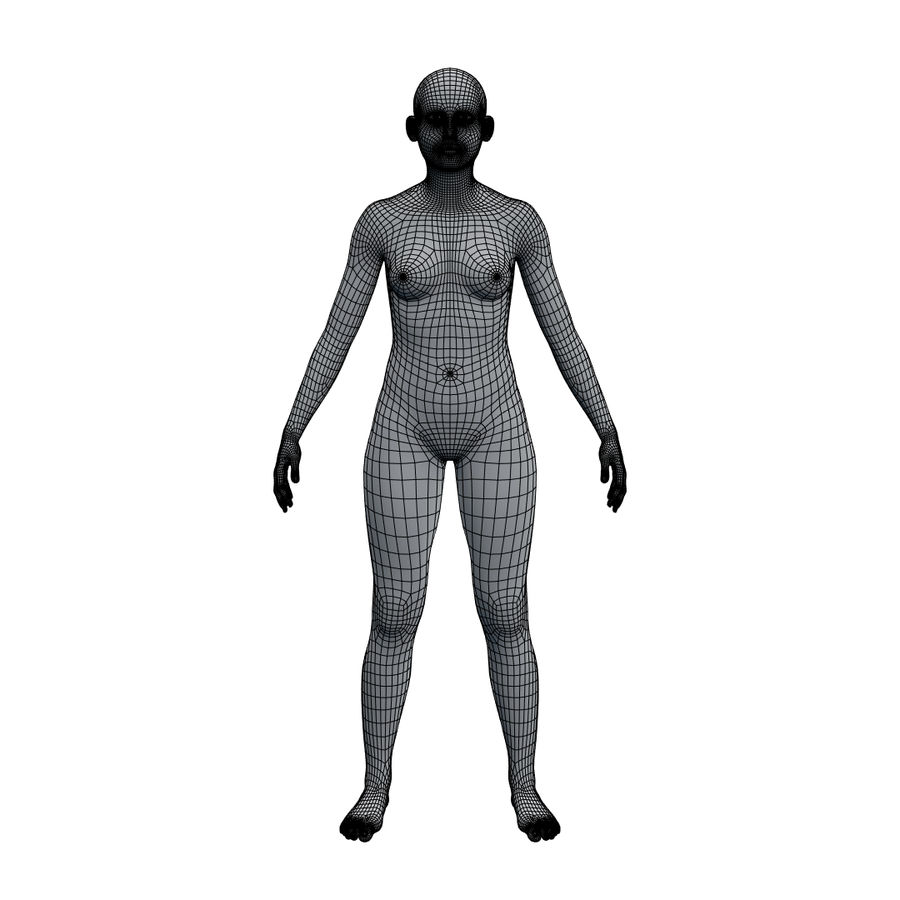 Basemesh corps femme royalty-free 3d model - Preview no. 17