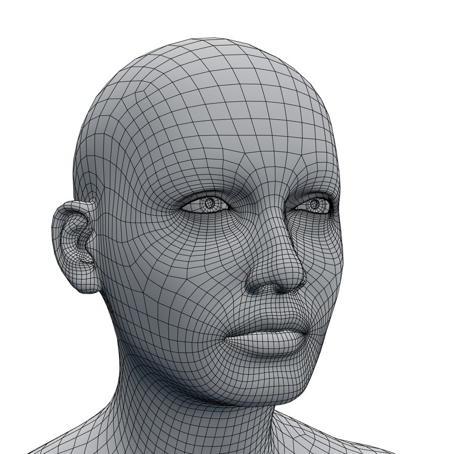 Basemesh corps femme royalty-free 3d model - Preview no. 27