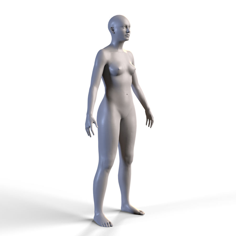 Basemesh corps femme royalty-free 3d model - Preview no. 4