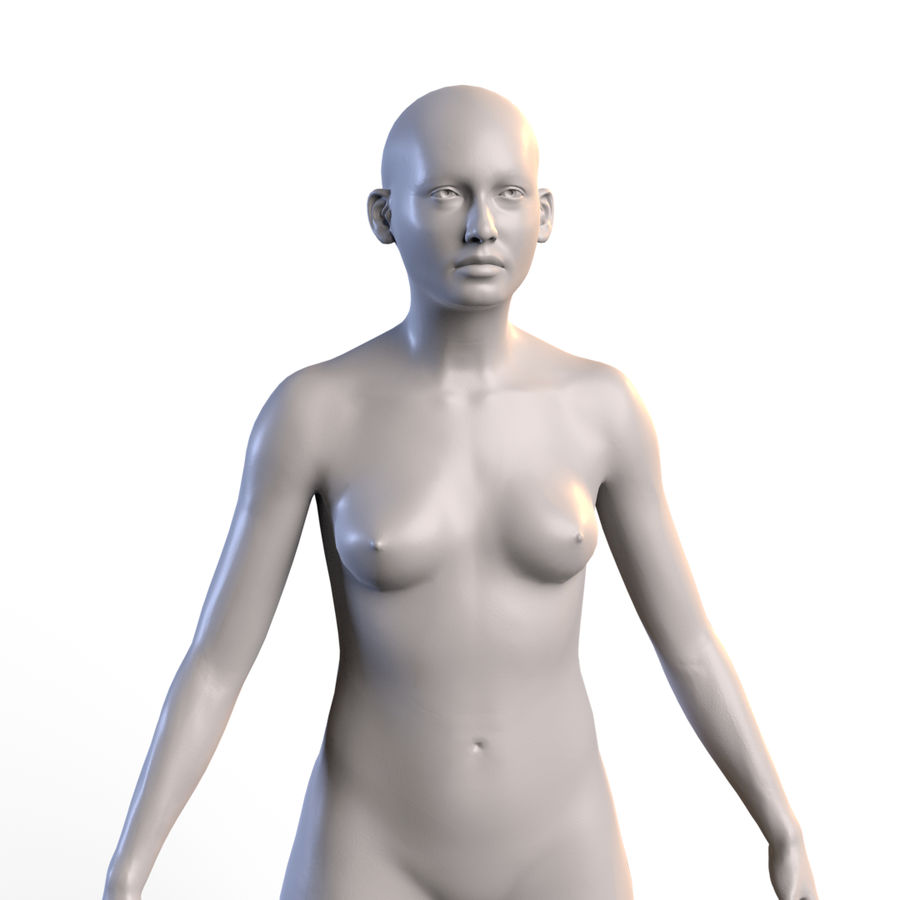 Basemesh corps femme royalty-free 3d model - Preview no. 5