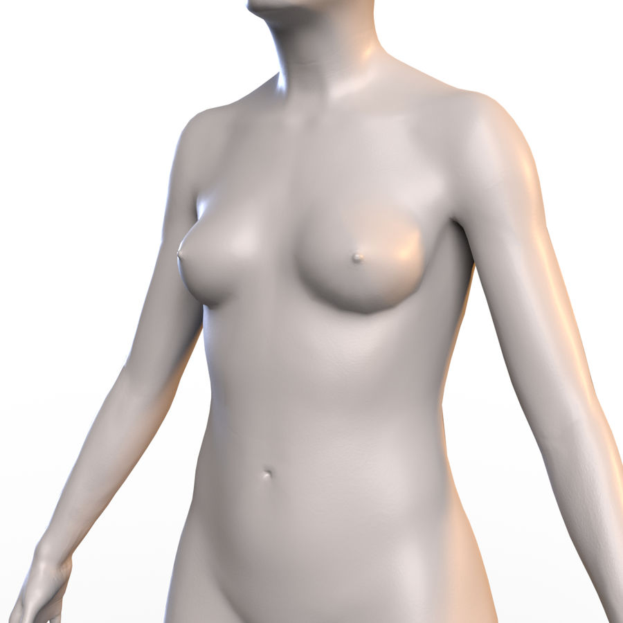 Basemesh corps femme royalty-free 3d model - Preview no. 6
