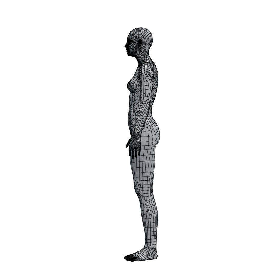 Basemesh corps femme royalty-free 3d model - Preview no. 23