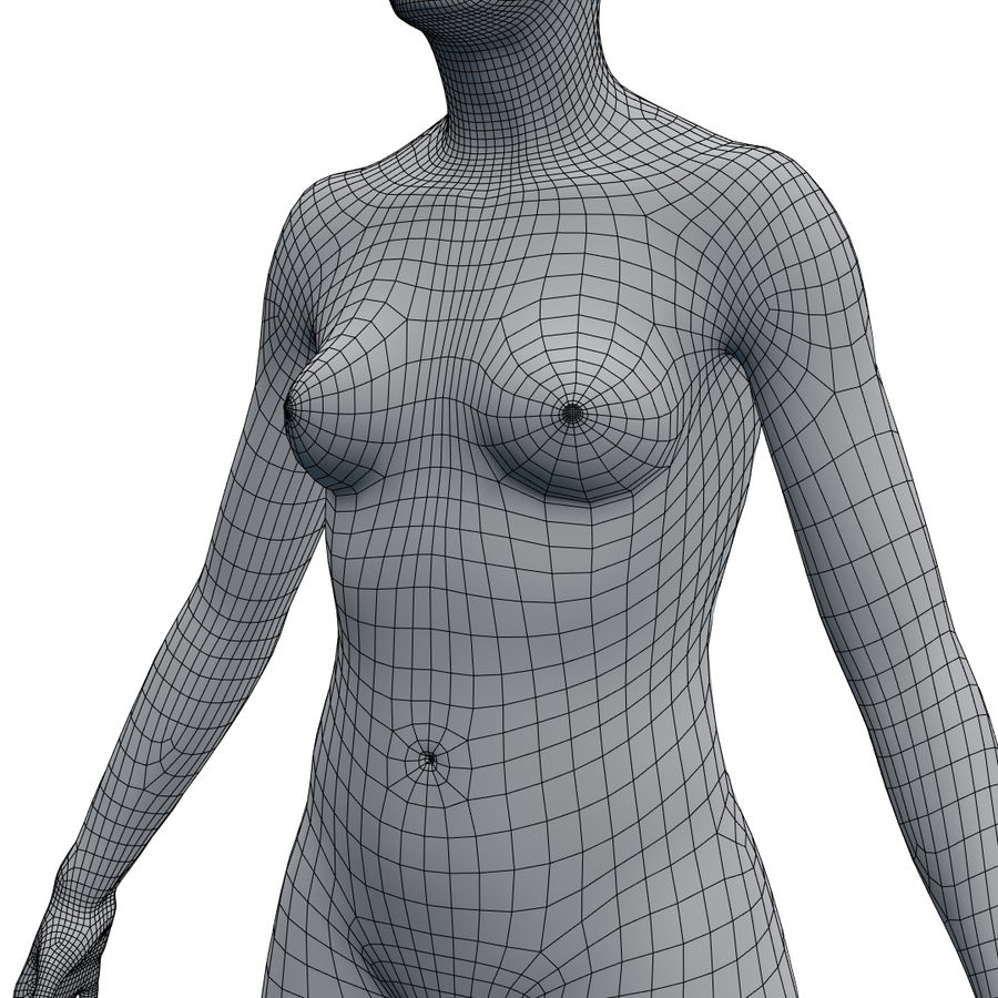 Basemesh corps femme royalty-free 3d model - Preview no. 21
