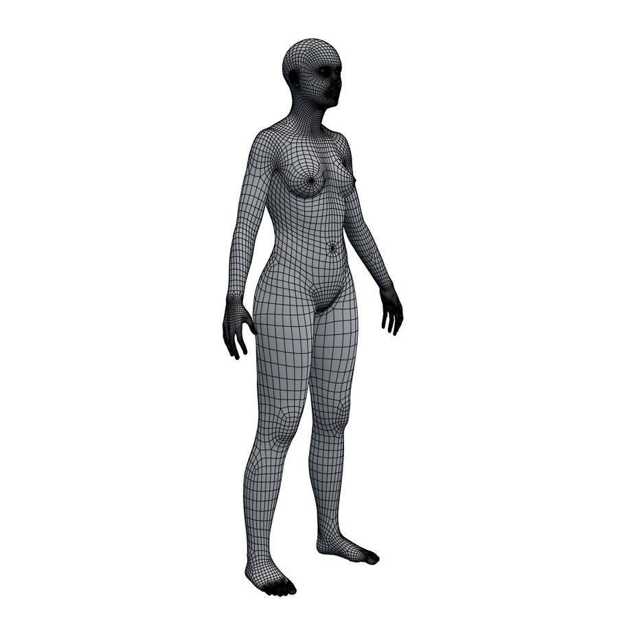 Basemesh corps femme royalty-free 3d model - Preview no. 19