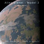 Yabancı gezegen modeli 2-16k fotogerçekçi-sıcak terran 3d model