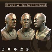 브루스 윌리스 브론 스 버스트 3d model