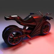 Futuristic Motor Bike 3d model
