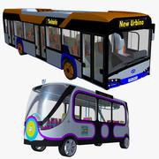 Bus & Smart minibus 3d model