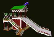 Russian Wooden Winter Slide Attraction 3d model
