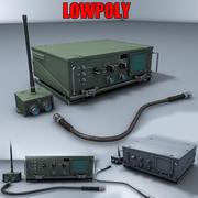 軍用無線トランシーバー 3d model