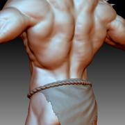 Adam vücut geliştirmeci 3d model