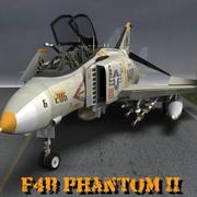 F4B Phantom (dla Poser) 3d model