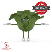 Cabbage Character 3d model