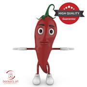 Chili Character 3d model