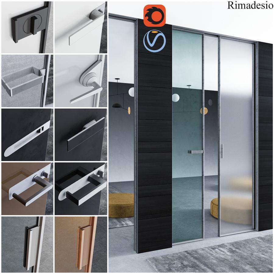 Türen für Büro und Zuhause - Rimadesio royalty-free 3d model - Preview no. 1