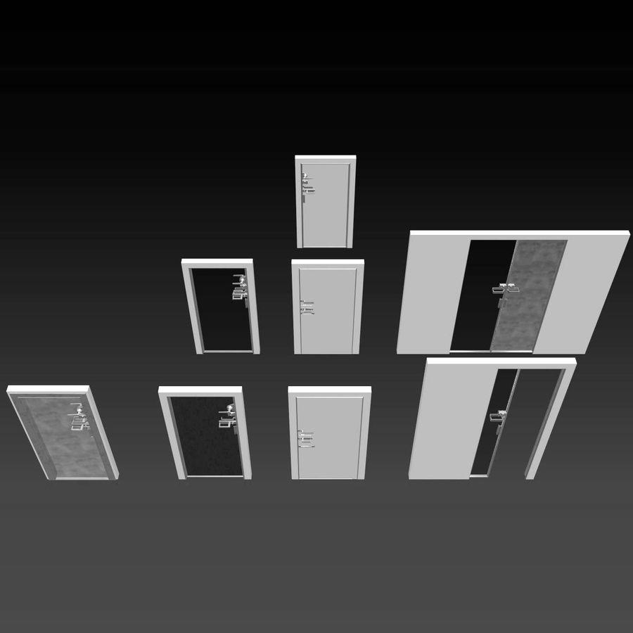 Türen für Büro und Zuhause - Rimadesio royalty-free 3d model - Preview no. 2