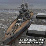 田纳西号BB-43号(对于装腔作势者) 3d model