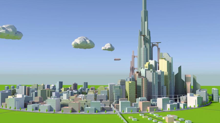 시티 royalty-free 3d model - Preview no. 4