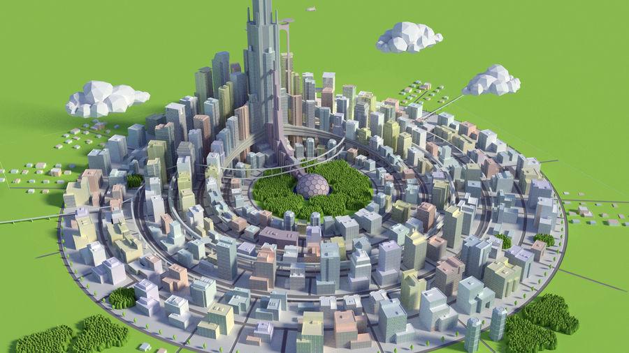 시티 royalty-free 3d model - Preview no. 1