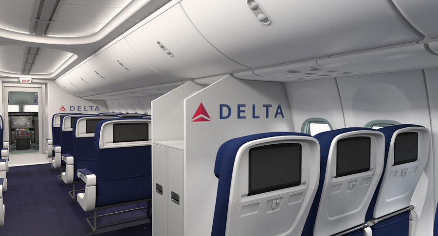 Boeing 737 900 Er Delta With Interior And Doors Rigged 3d Model 599 Max Free3d