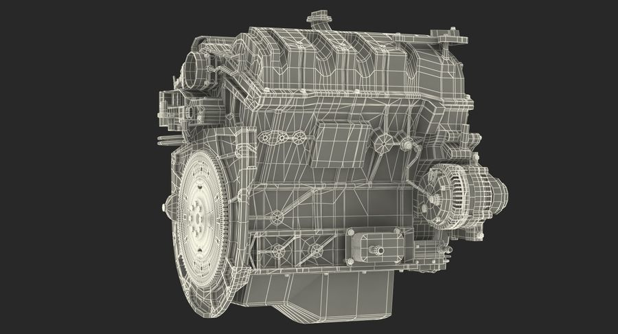 Car Engine royalty-free 3d model - Preview no. 30