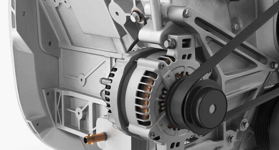 Car Engine royalty-free 3d model - Preview no. 18