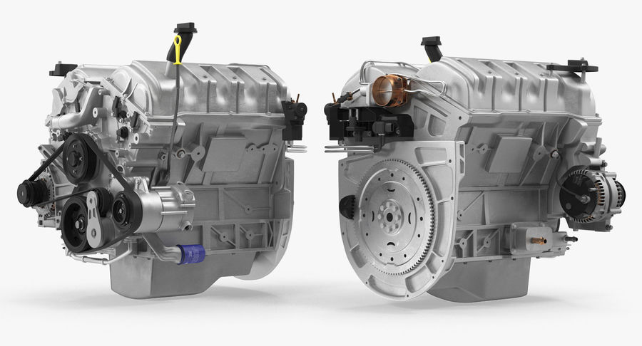 Car Engine royalty-free 3d model - Preview no. 5