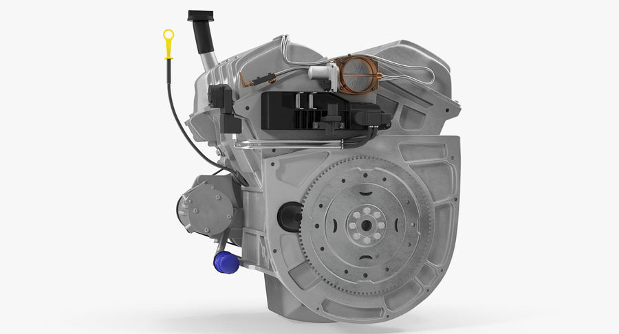 Car Engine royalty-free 3d model - Preview no. 9