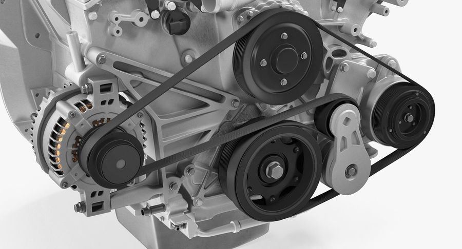 Car Engine royalty-free 3d model - Preview no. 15
